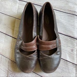 Clarks Bendables Comfort Leather Mary Janes SZ 7M